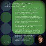 "CD cover for Jill Warner's album ""Psalm for the Artist,"" right interior, by Mary Warner, November 2014."