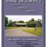 Large brochure (front), Morrison County Historical Society, designed by Mary Warner, 2013.
