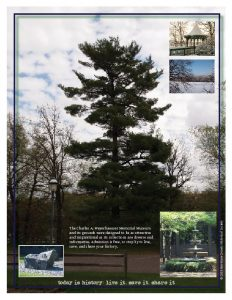 Large brochure (back), Morrison County Historical Society, designed by Mary Warner, 2013.