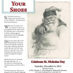 St. Nicholas Day flier, designed by Mary Warner for the Morrison County Historical Society, 2014.