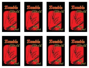 Zombie Attack Cards (1), designed by Mary Warner for the AASLH Annual Conference, 2014.