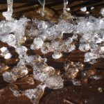Ice on steps by Mary Warner, December 2014