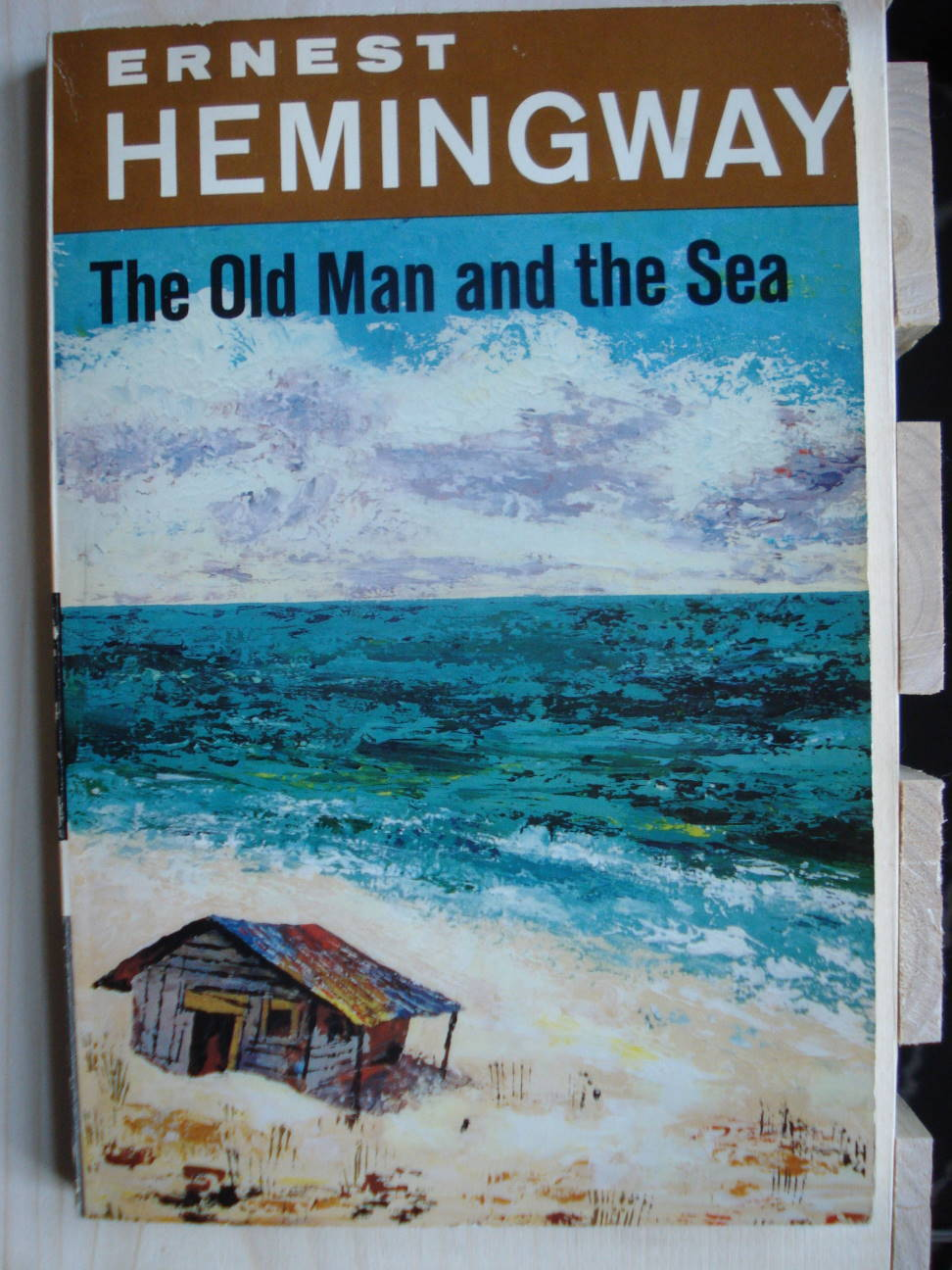 "Ernest Hemingway, ""The Old Man and the Sea,"" 1952 edition. Photo by Mary Warner."
