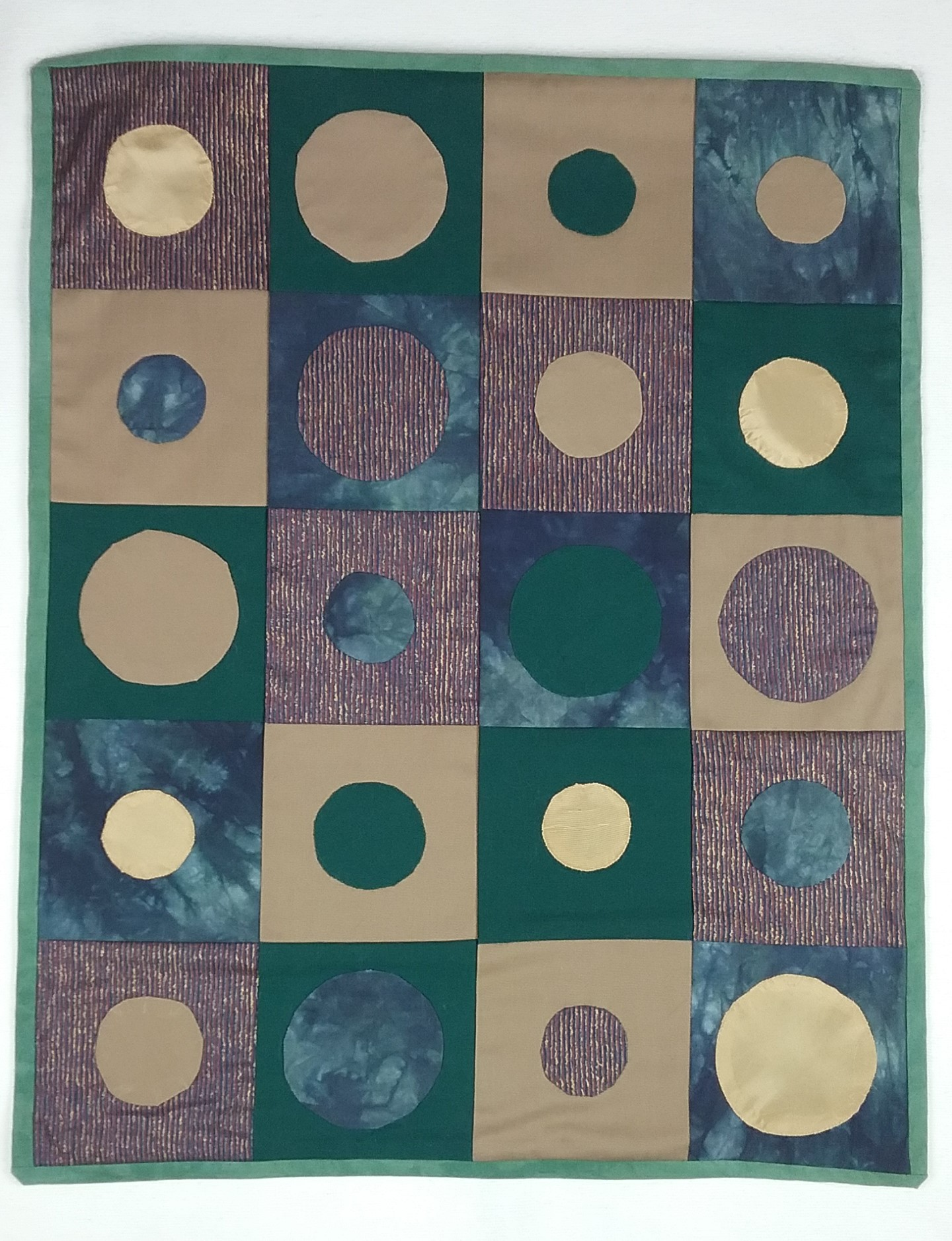 Circles in squares by Mary Warner.