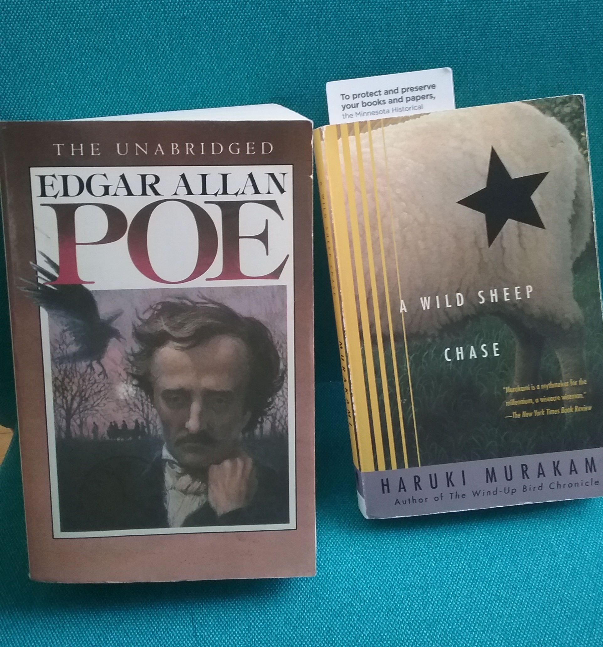 The Unabridged Edgar Allan Poe and A Wild Sheep Chase by Haruki Murakami