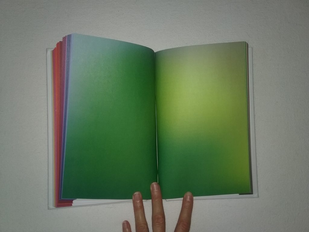 The two-page color spread introducing the green chapter in The Secret Lives of Color.