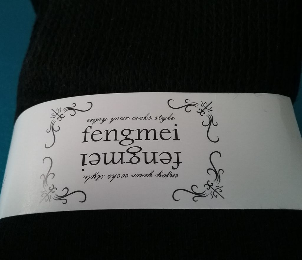 "Fengmei sock label, ""Enjoy your cocks style,"" 2019."