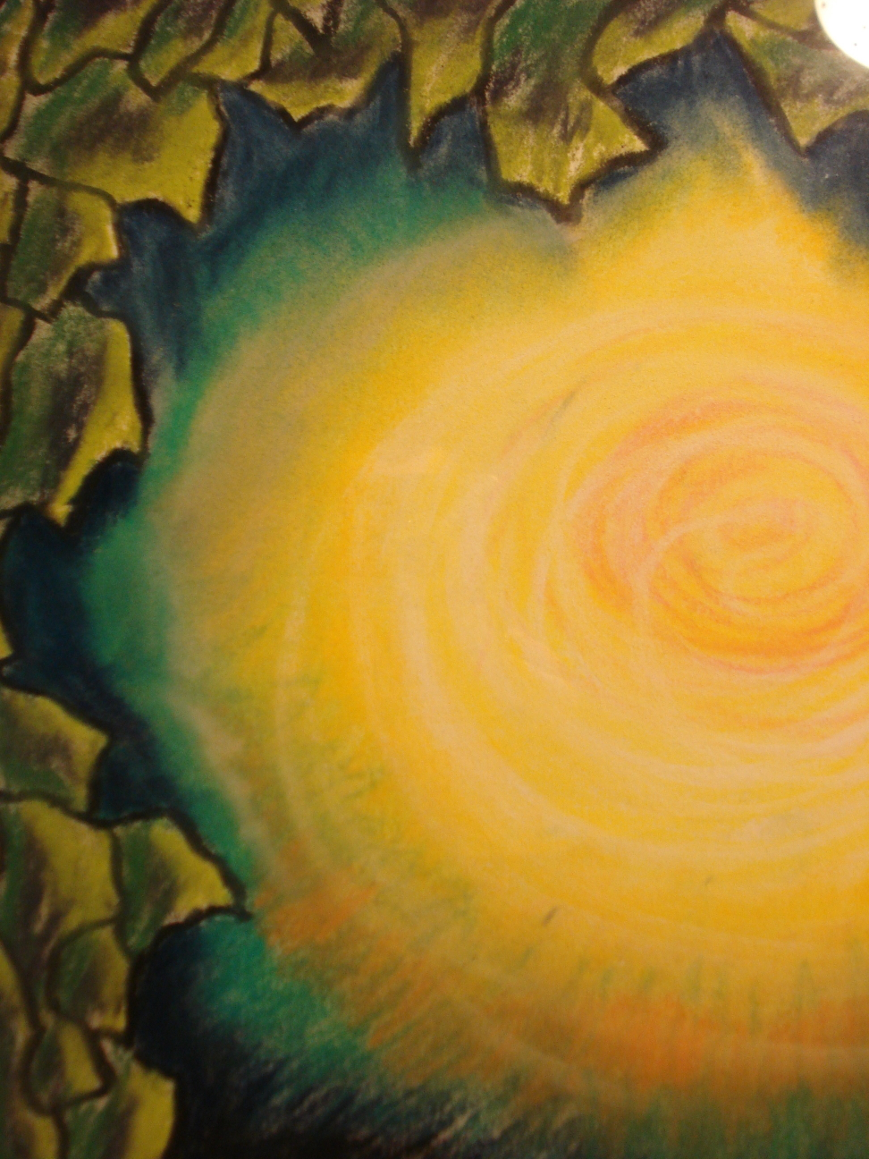 Untitled, detail of a pastel chalk drawing by Mary Warner.