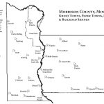 Map of ghost towns in Morrison County, MN, designed by Mary Warner for the Morrison County Historical Society, 2014.