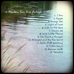 """CD cover for Jill Warner's album """"Psalm for the Artist,"""" back, by Mary Warner, November 2014."""