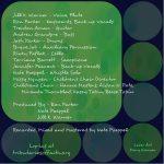 """CD cover for Jill Warner's album """"Psalm for the Artist,"""" left interior, by Mary Warner, November 2014."""
