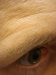 Eye, self portrait by Mary Warner, 2015.