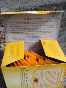 Yogi Tea box, Roasted Dandelion Spice DeTox