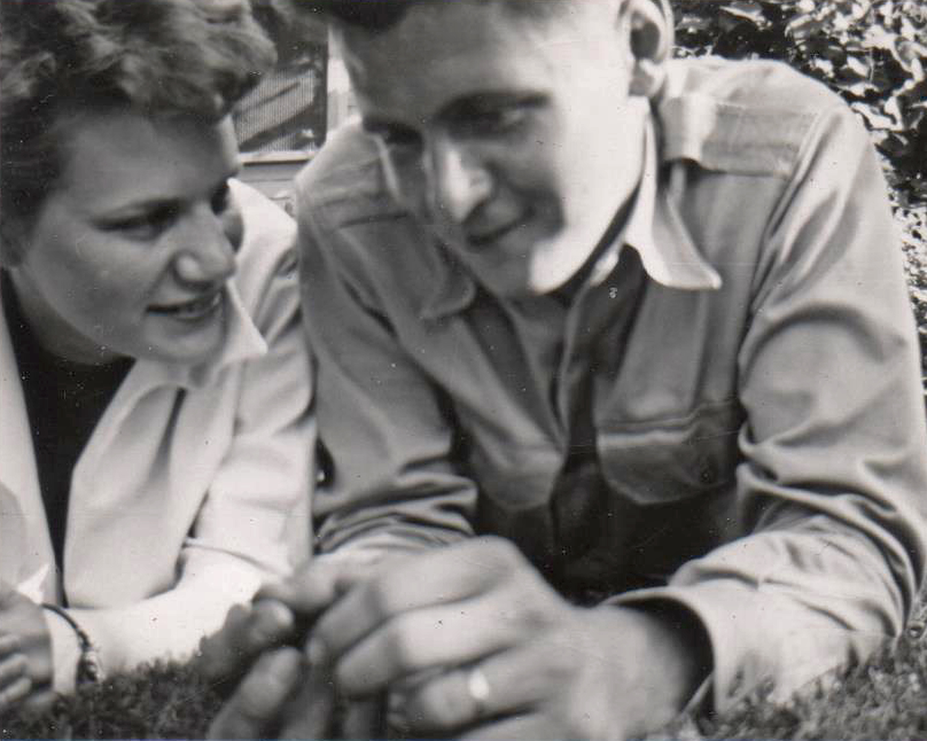 Jan and Art Warner - This is one of my favorite pictures of Jan and Art. I think it is from when they were dating. They were married in 1950, so that helps date this to around that time. They were inseparable.