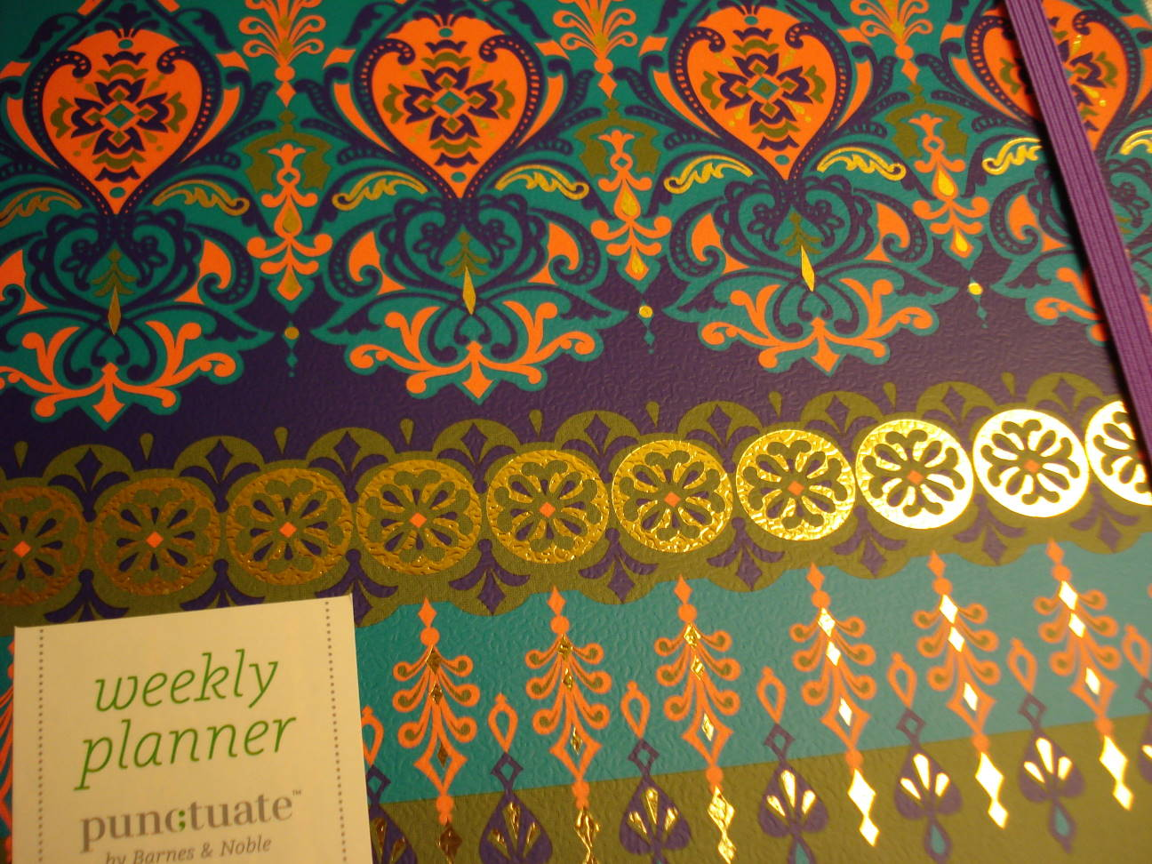 Mary's 2016 day book/calendar, close-up of cover.