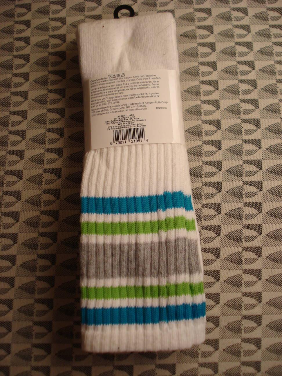 Tube socks, 2016.