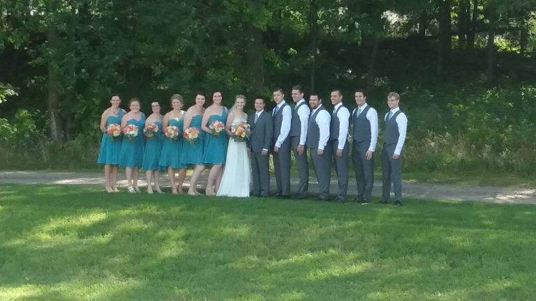 Olivia & Eric with their wedding party. September 10, 2016.