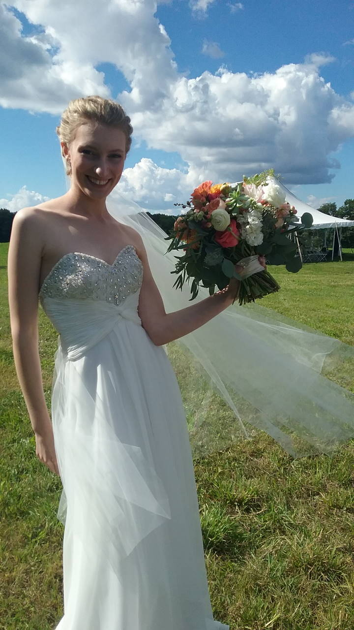 Olivia, the happy and beautiful bride. September 10, 2016.