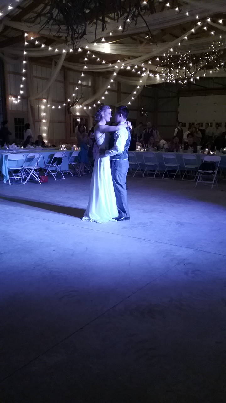 Liv & Eric's first wedding dance. September 10, 2016.