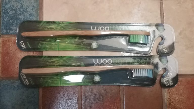 WooBamboo toothbrushes from Fresh Thyme. April 2017.
