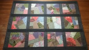Crazy quilt by Mary Warner, April 3, 2017.