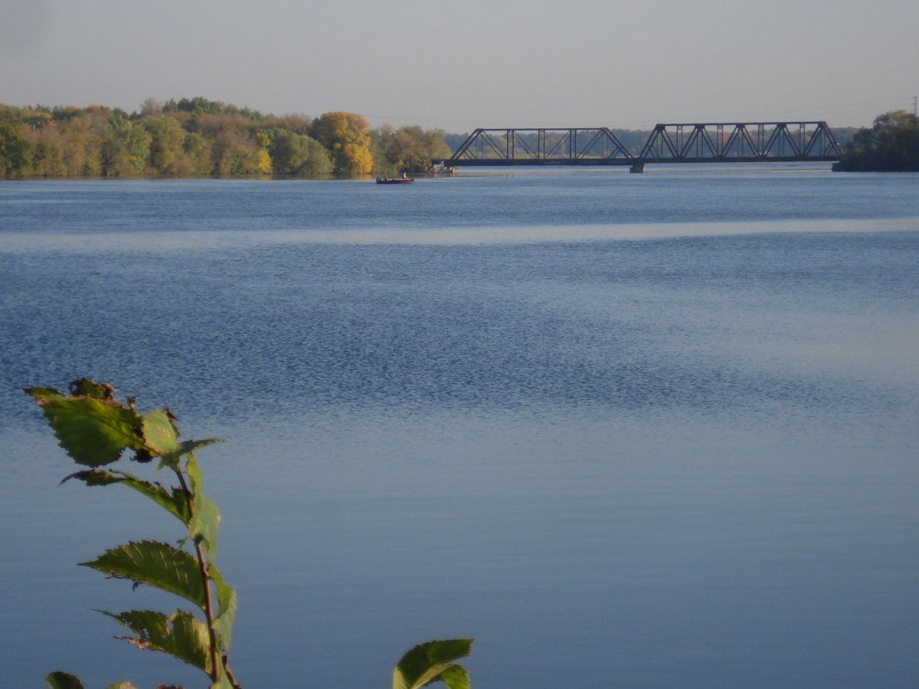 North train trestle, Little Falls, MN, photo by Mary E Warner, Sept 2014