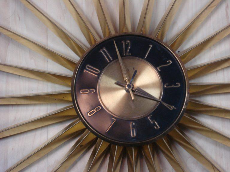 Starburst wall clock, 2018.