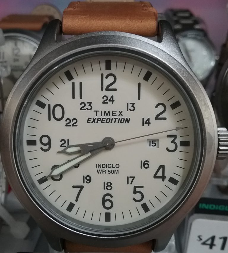 Timex Expedition wristwatch, 2018.