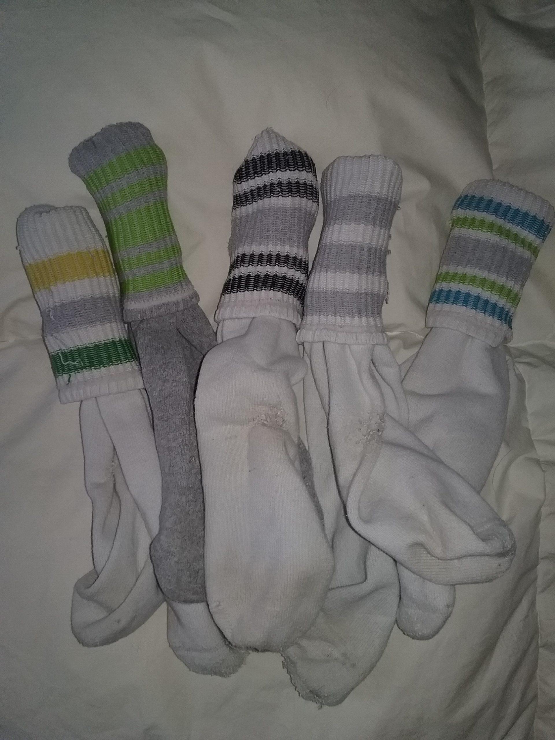 My beloved tube socks, 2018.