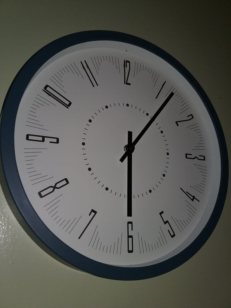 A simple, tidy clock, 2018.