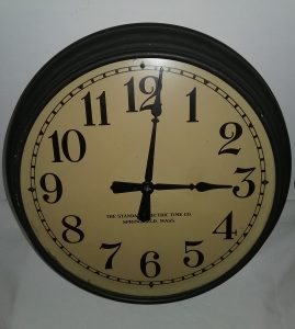 The Standard Electric Time Company clock.