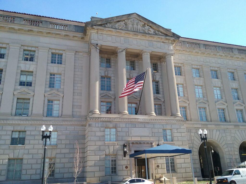 Commerce Department building, Washington DC, 2019.