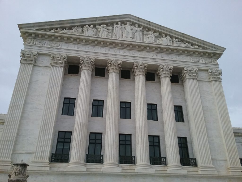 """The Supreme Court, Washington DC, 2019. This building has a message we desperately need to heed in today's world: """"Justice the Guardian of Liberty."""""""