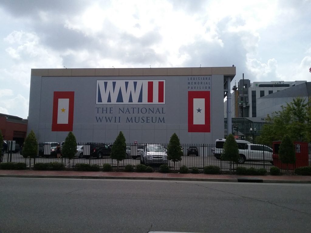 The National WWII Museum, New Orleans, Louisiana, August 2019. This large museum complex is across the street from the Ogden Museum of Southern Art. When I travel, I try to limit the number of museums I visit because the experience becomes too overwhelming and I remember none of it. I did not visit this museum or the next one pictured in this travelogue, but I did enjoy the architecture and noted that both this and the next museum are located in the arts district of New Orleans.