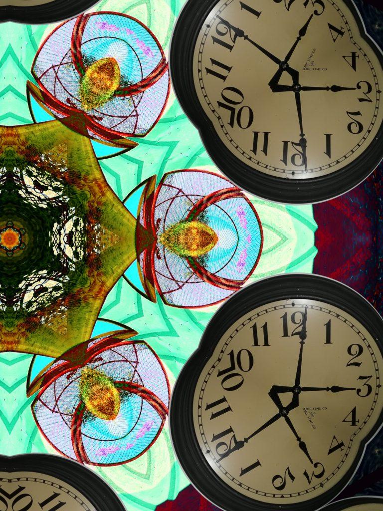 Reflective Clocks by Mary Warner, September 2020.