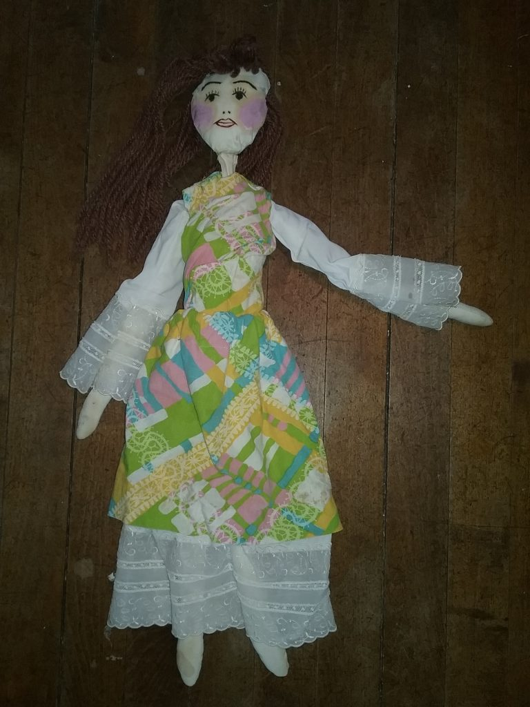 The marionette I made as a kid using instructions from a book I found at the local Carnegie Library.